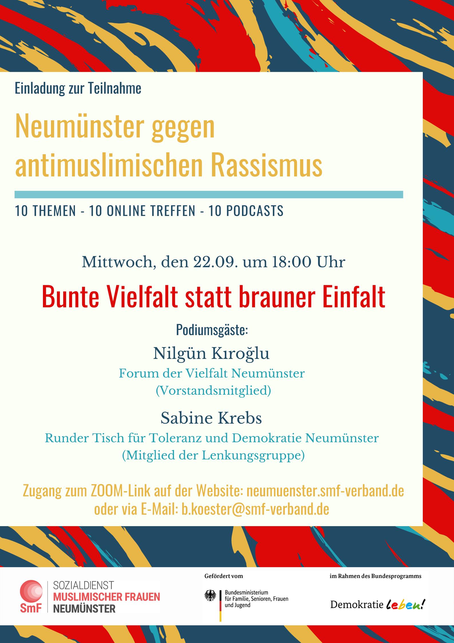 """Einladung zur Online-Veranstaltung """"Bunte Vielfalt statt brauner Einfalt"""""""